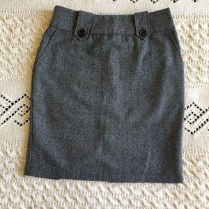 Forever21 Grey Wool Work Business Skirt Medium